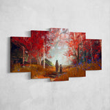 God Of War Canvas Wall Art 58 - 5 Piece Canvas Wall Art God Of War Gaming Poster
