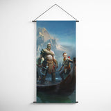 God Of War 30 Kratos And Atreus Decorative Banner Flag for Gamers