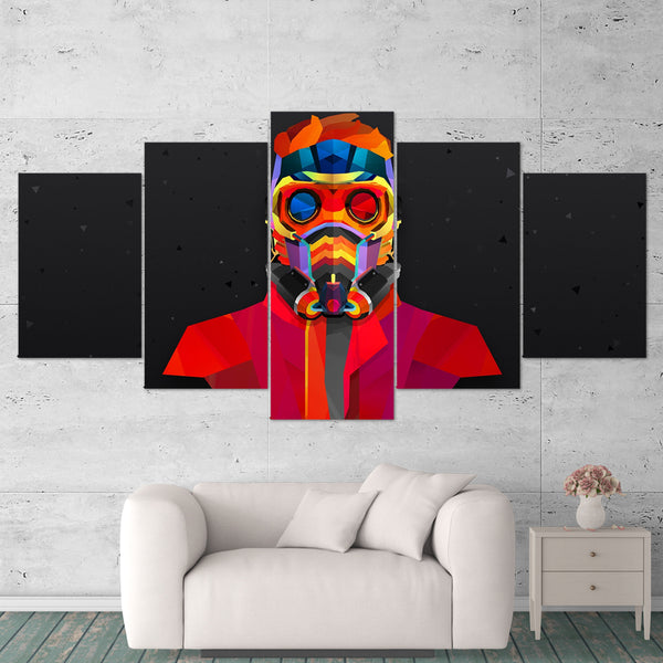 Guardians of the Galaxy 01 Starlord 5 Piece Canvas Wall Art Gaming Canvas