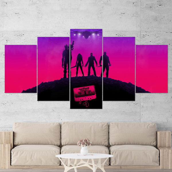 Guardians of the Galaxy Canvas Wall Art 5 Piece Gaming Canvas