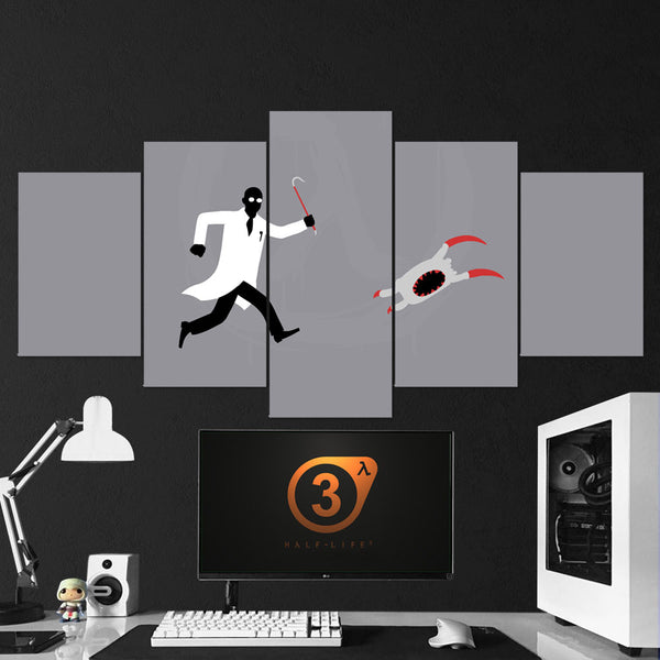 Half-Life 01 Minimalist 5 Piece Canvas Wall Art Gaming Canvas