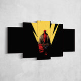 Hellboy 01 Minimalist 5 Piece Canvas Wall Art Gaming Canvas