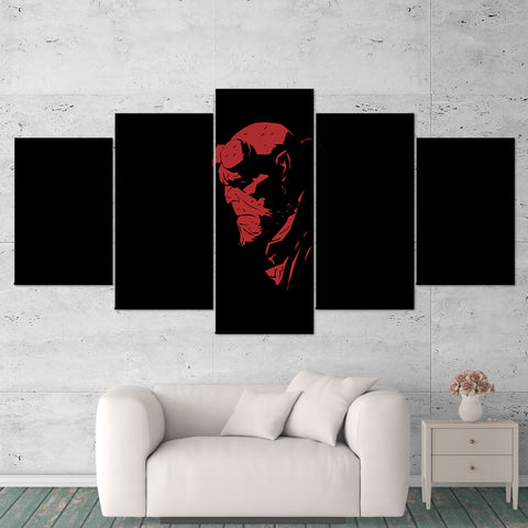 Hellboy 02 Minimalist 5 Piece Canvas Wall Art Gaming Canvas