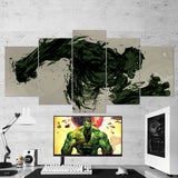 Hulk Canvas Wall Art Gaming Room Abstract 5 Piece Canvas
