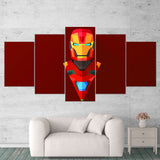 Ironman 01 Abstract 5 Piece Canvas Wall Art Gaming Canvas