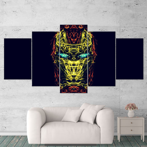 Ironman 03 Abstract 5 Piece Canvas Wall Art Gaming Canvas