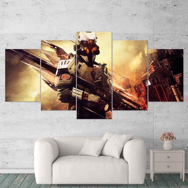 Killzone Shadow Fall 01 Helghast 5 Piece Canvas Wall Art Gaming Canvas 5 Piece Canvas Wall Art Gaming Canvas