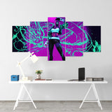 League Of Legends 08- Akali 5 Piece Canvas Wall Art Gaming Canvas - LOL Canvas