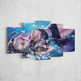 League Of Legends 02- Ashe 5 Piece Canvas Wall Art Gaming Canvas - LOL Canvas