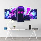 League Of Legends 09- Evelynn 5 Piece Canvas Wall Art Gaming Canvas - LOL Canvas