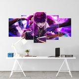 League Of Legends 10 - Evelynn 5 Piece Canvas Wall Art Gaming Canvas - LOL Canvas