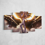 League Of Legends 11 - Kaisa 5 Piece Canvas Wall Art Gaming Canvas - LOL Canvas