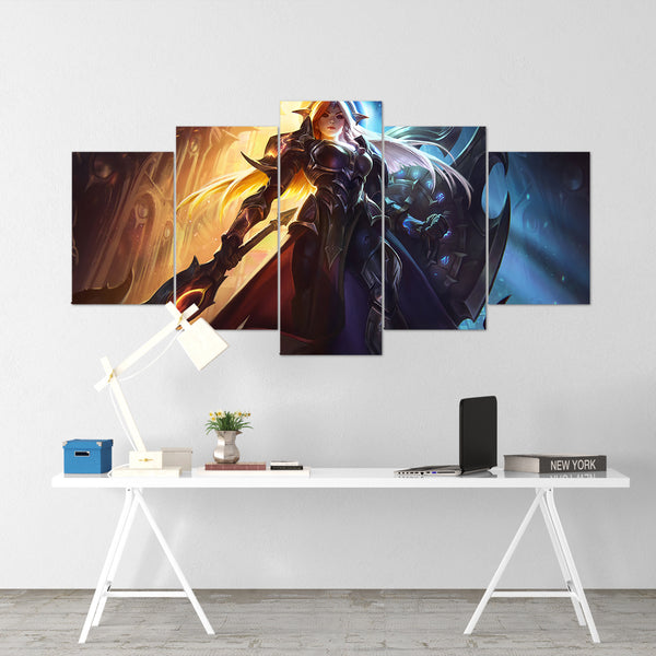 League Of Legends 15 - Leona 5 Piece Canvas Wall Art Gaming Canvas - LOL Canvas