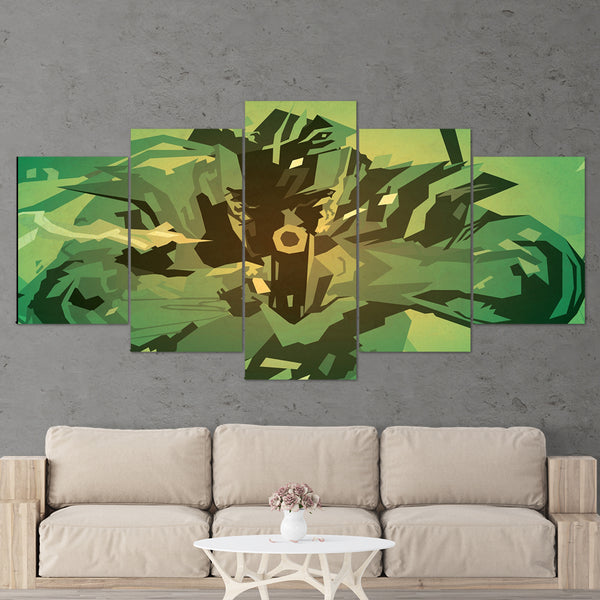 Metal Gear 01 Solid Snake 5 Piece Canvas Wall Art Gaming Canvas 5 Piece Canvas Wall Art Gaming Canvas