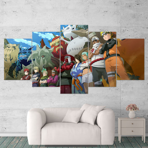 Naruto Canvas Ultimate Ninja 01 Anime 5 Piece Canvas Wall Art Gaming Canvas
