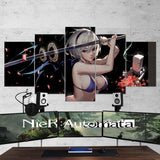 Nier Automata Wall Art 07 - 2b Katana 5 Piece Canvas Wall Art Gaming Canvas