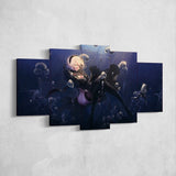Nier Automata Canvas 08 - Yorha 2b 5 Piece Canvas Wall Art Gaming Canvas