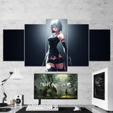 Nier Automata 12  Yorha 2b 5 Piece Canvas Wall Art Gaming Canvas