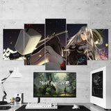 Nier Automata 15 Yorha A2 5 Piece Canvas Wall Art Gaming Room Canvas