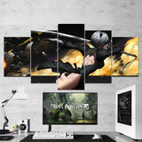 Nier Automata Wall Art 18 - Yorha 2B Katana 5 Piece Canvas - Gaming Room Canvas