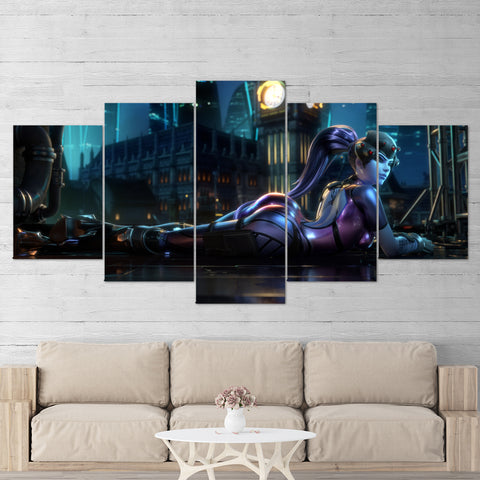 Overwatch 03 Widowmaker 5 Piece Canvas Wall Art Gaming Canvas
