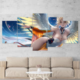 Overwatch 12 Mercy 5 Piece Canvas Wall Art Gaming Canvas
