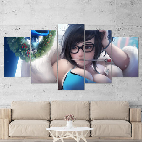 Overwatch 14 Mei 5 Piece Canvas Wall Art Gaming Canvas