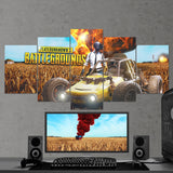 PUBG Player Unknown's Battlegrounds 02 - 5 Piece Canvas Wall Art Gaming Canvas