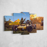 PUBG Player Unknown's Battlegrounds 05 - 5 Piece Canvas Wall Art Gaming Canvas