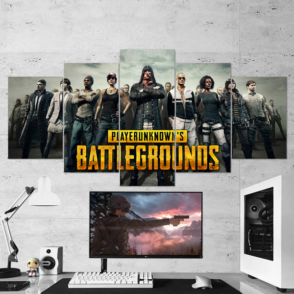 PUBG Player Unknown's Battlegrounds 06 - 5 Piece Canvas Wall Art Gaming Canvas