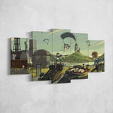 PUBG Player Unknown's Battlegrounds 08 - 5 Piece Canvas Wall Art Gaming Canvas