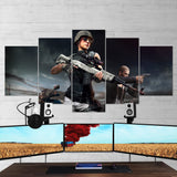PUBG PlayerUnknown's Battlegrounds 13 - 5 Piece Canvas Wall Art Gaming Canvas