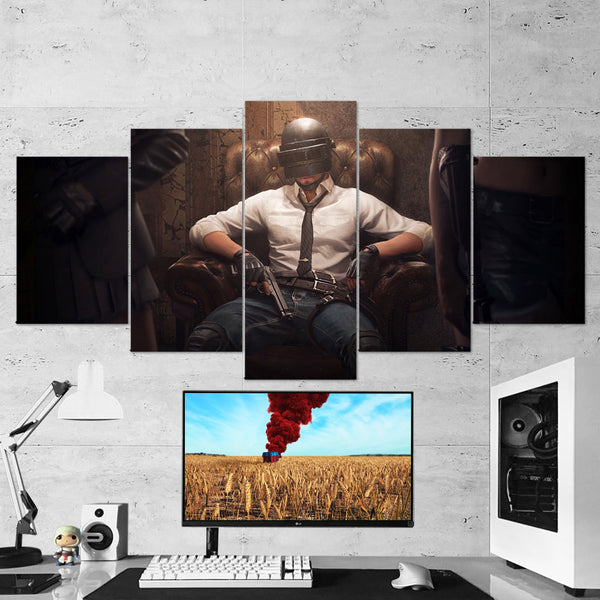 PUBG PlayerUnknown's Battlegrounds 19 - 5 Piece Canvas Wall Art Gaming Canvas