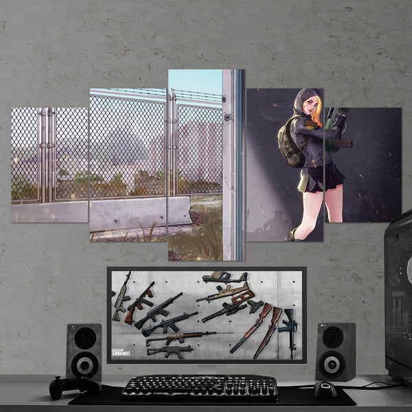 PUBG PlayerUnknown's Battlegrounds 22 - 5 Piece Canvas Wall Art Gaming Canvas