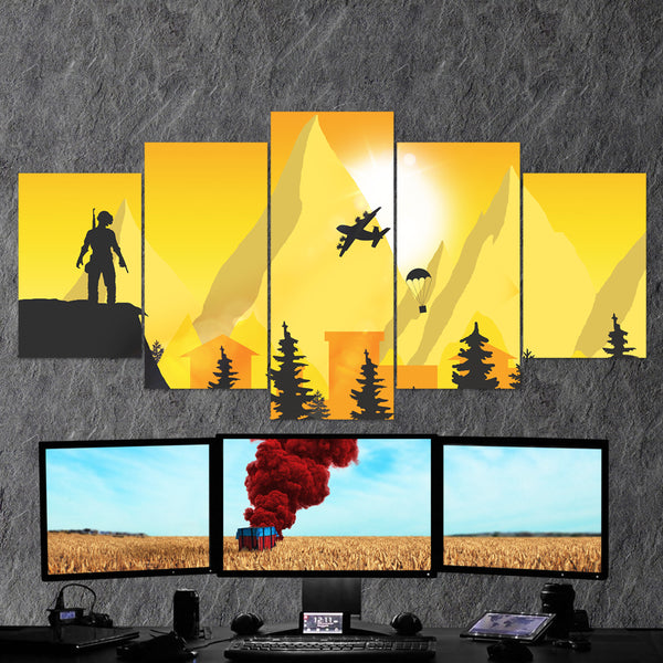 PUBG PlayerUnknown's Battlegrounds 26 - 5 Piece Canvas Wall Art Gaming Canvas