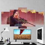 PUBG PlayerUnknown's Battlegrounds 28 - 5 Piece Canvas Wall Art Gaming Canvas