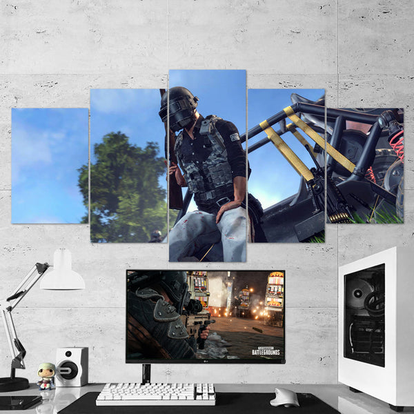 PUBG PlayerUnknown's Battlegrounds 31 - 5 Piece Canvas Wall Art Gaming Canvas