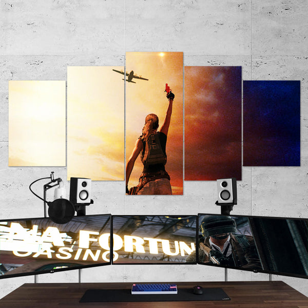 PUBG PlayerUnknown's Battlegrounds 32 - 5 Piece Canvas Wall Art Gaming Canvas
