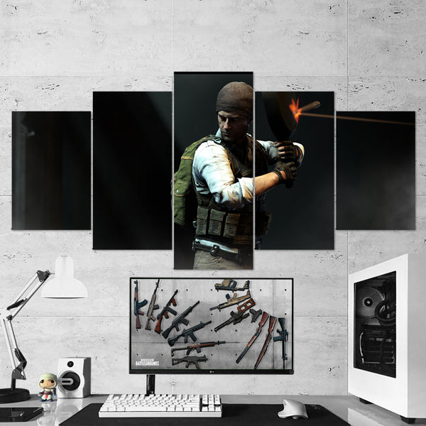 PUBG PlayerUnknown's Battlegrounds 33 - 5 Piece Canvas Wall Art Gaming Canvas