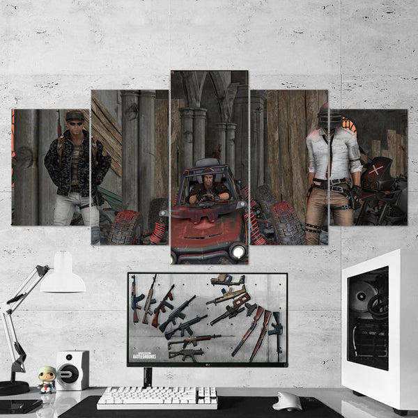 PUBG PlayerUnknown's Battlegrounds 37 - 5 Piece Canvas Wall Art Gaming Canvas