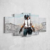 PUBG PlayerUnknown's Battlegrounds 48 - 5 Piece Canvas Wall Art Gaming Canvas