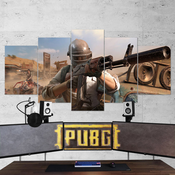 PUBG PlayerUnknown's Battlegrounds 51 - 5 Piece Canvas Wall Art Gaming Canvas