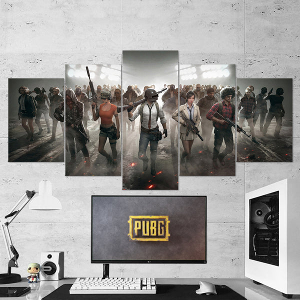 PUBG PlayerUnknown's Battlegrounds 52 - 5 Piece Canvas Wall Art Gaming Canvas