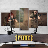 PUBG PlayerUnknown's Battlegrounds 54 - 5 Piece Canvas Wall Art Gaming Canvas