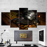 PUBG PlayerUnknown's Battlegrounds 60 - 5 Piece Canvas Wall Art Gaming Canvas