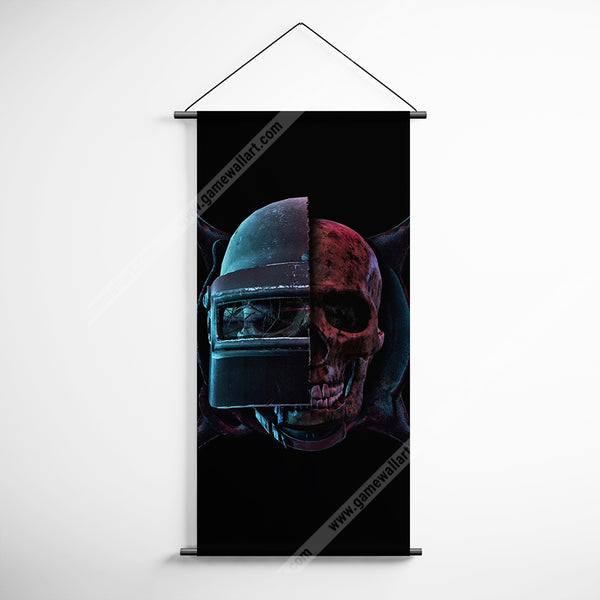 PUBG 63 Playerunknowns Battlegrounds Skull Helmet Pan Decorative Banner Flag for Gamers