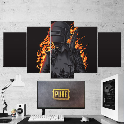 PUBG 66 Playerunknowns Battlegrounds 5 Piece Canvas Wall Art Gaming Canvas