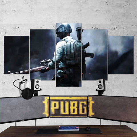 PUBG 67 Playerunknowns Battlegrounds 5 Piece Canvas Wall Art Gaming Canvas