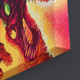Psychedelic Canvas Wall Art 01 - Dragon Fire - Abstract Canvas