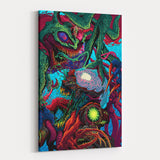 Psychedelic Canvas Wall Art 02 - Cosmic Monster Perspective
